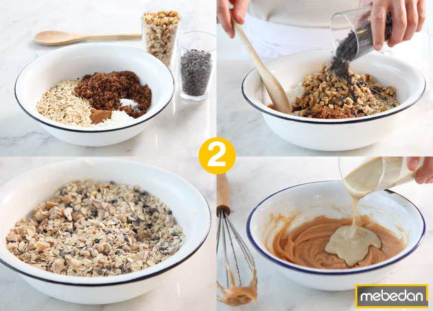 Cách làm granola giảm cân bước 2